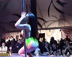 Hot stripper dancing on stage
