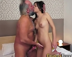 Teen spunked by old dude