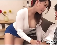 Sexy mother i'_d like to fuck gets on knees to suck in large cock, cum shot
