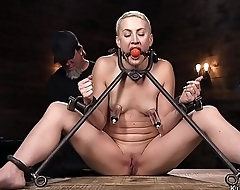 Hanged to ankles ass hard whipped