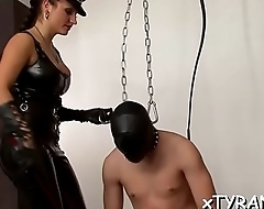 Guy gets tied up and wazoo fucked in sexy femdom fetish action
