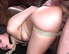 Butt plugged babe pussy rough fucked