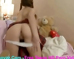 Xmovzz.Com - Teen With Pigtails And Big Tits Fucks Ass With Toys