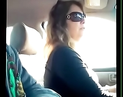Student Dick Flashing Teacher In Car