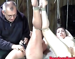 Submissive duo gets punished by maledom