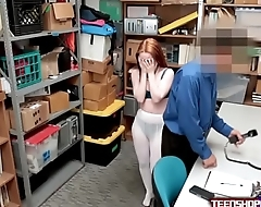 Foreign Ginger Teen Punished By Security Guards Erect Cock