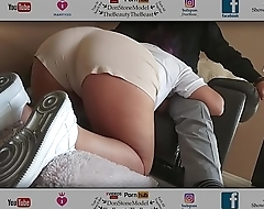 College Girl Services My Cock After Work In Nice Shorts (Round Nice Ass)