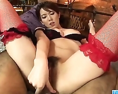 Yui Hatano feels big cock smashing her furry cunt  - More at javhd.net