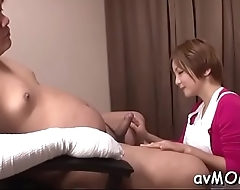 Filthy asian mom takes on 3 cocks and gets devoured