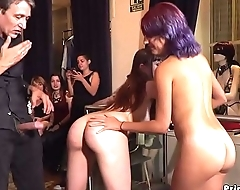 Bare ass babe disgraced in public cafes