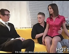 Beauty is engulfing big penis before riding up stranger'_s dong