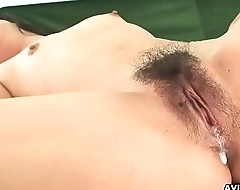 Minako Oyama loves being toyed and pussy drilled super hard