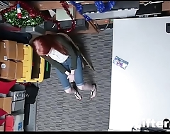 CUTE REDHEAD FUCKED FOR STEALING TV- LifterX.com