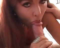 Sexy MILF wearing diamond choker Sexy Vanessa plays with her wet pussy then gets fucked and creamed