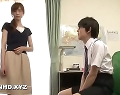 Japanese teacher made submissive by students