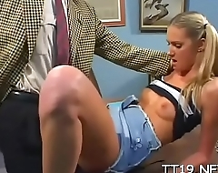 Cute amateur gets her ravishing bawdy cleft stuffed with a fat dick