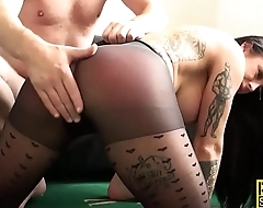Mouth fucked sub pounded