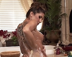 Erotic bigtits masseuse grinds on her client