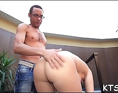 Frisky ladyboy wench cannot stop riding this impressive boner