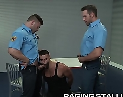Daddy Hunk Colleagues Find Perv At Work &amp_ Take Turns On Him