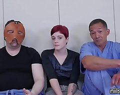 Foxy chick was taken in ass hole asylum for harsh treatment