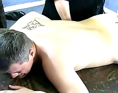 Quinlan'_s eyes roll back as Casey'_s finger finds his prostate