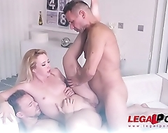 Samantha Rone ready to suck two cocks &amp_ lube '_em up for double penetration GP145